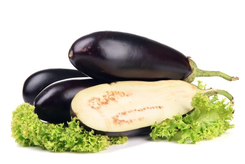 Баклажан и салат