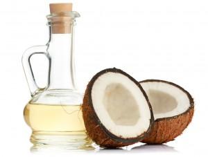 растопленное кокосовое масло и кокос