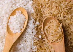 Бурый и белый рис